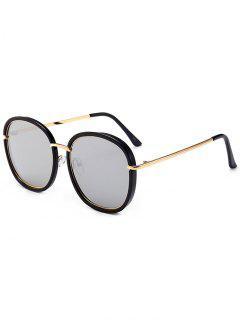 Gafas De Sol Con Protección UV Con Marcos Metálico Incrustado - Negro + Mercurio