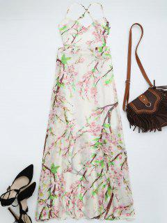Vestido Maxi Vestido Abierto Transparente Floral - Floral S
