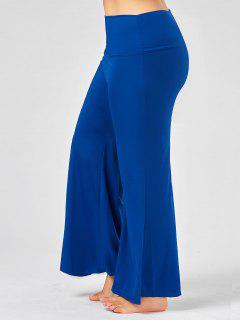 Plus Size High Rise Maxi Palazzo Pants - Royal Xl