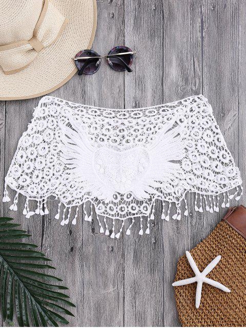 chic Tube Heart Crochet Tube Cover Up Top - WHITE ONE SIZE Mobile