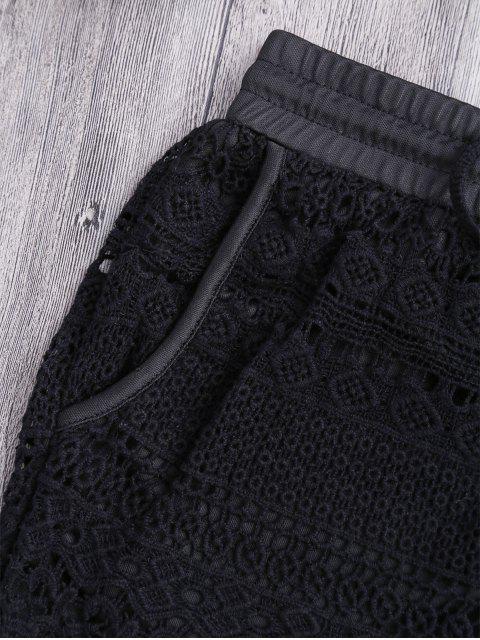 Pochettes doublées Crochet Shorts - Noir TAILLE MOYENNE Mobile