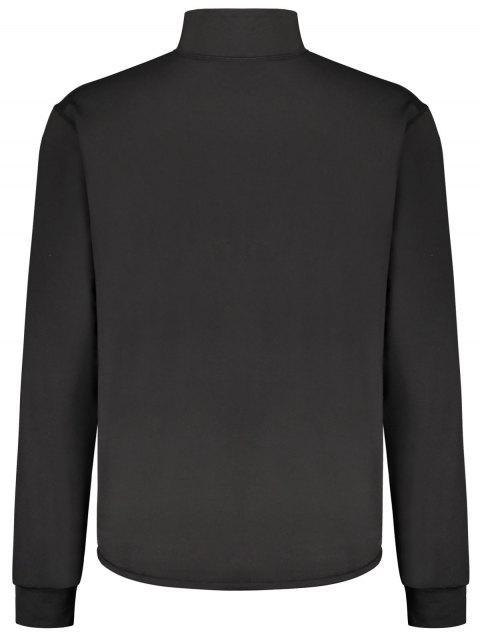 Collier long à manches longues Zip - Noir L Mobile