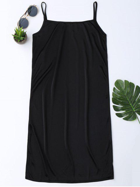 online Hollow Out Ruffle Dress with Tank Top - BLACK S Mobile