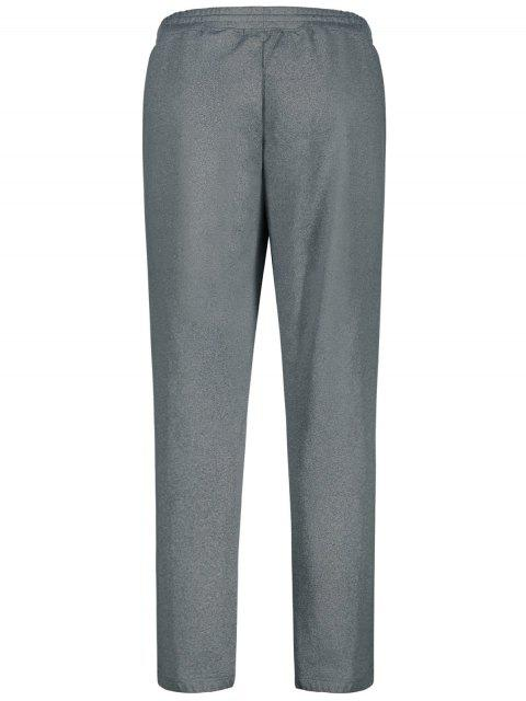 Drawstring Sweatpants with Zip Pocket - Gris 2XL Mobile