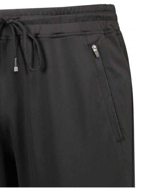 shops Zipper Pocket Drawstring Sweatpants - BLACK XL Mobile