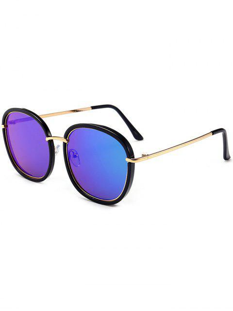 Gafas de sol de protección contra rayos UV con incrustaciones de metal - Negro + Azul + Verde  Mobile
