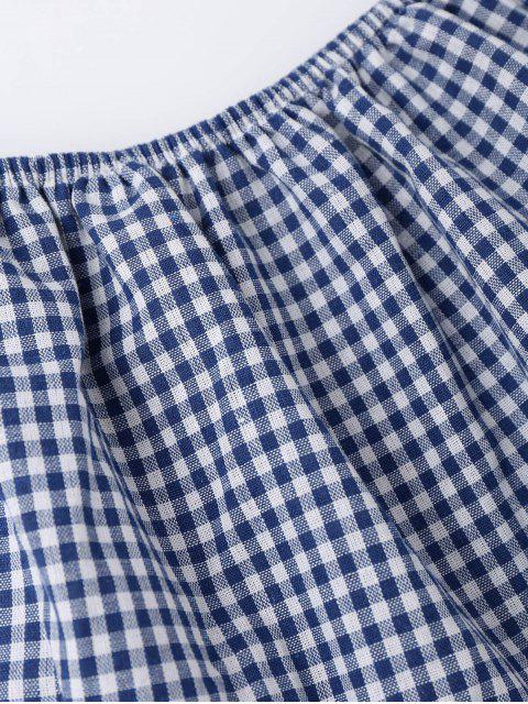 Combishorts épaules dénudées frangé imprimé - Bleu XL Mobile