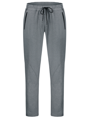 Drawstring Sweatpants with Zip Pocket