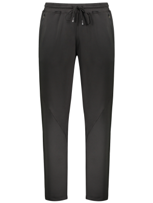Cremallera Pocket Drawstring Pantalones - Negro M