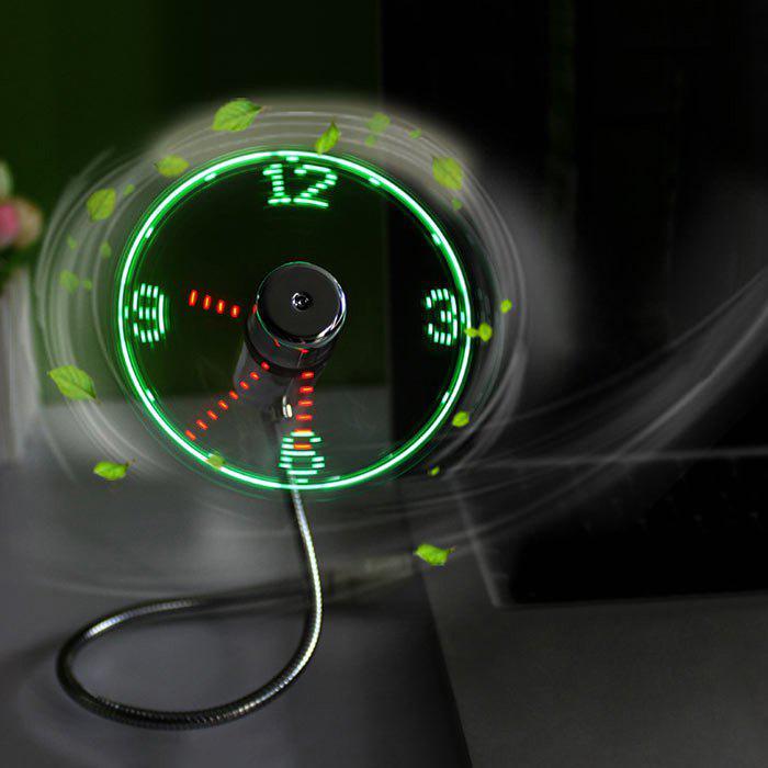 Ventilateur Creative Mini USB avec affichage à horloge LED