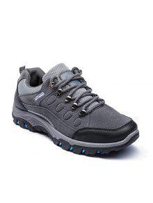أحذية رياضية كتلة اللون سويدي اصطناعي - رمادي 44