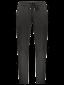 Zipper Pocket Drawstring Sweatpants - Black 2xl