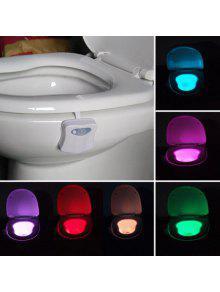 التلقائي استشعار الحركة الملونة الصمام ضوء المرحاض - أبيض 9.5 * 7 * 5cm