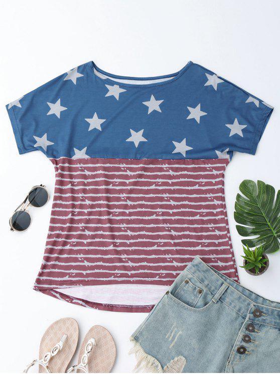 Camiseta de la impresión de la bandera americana del - Bandera de Estados Unidos S