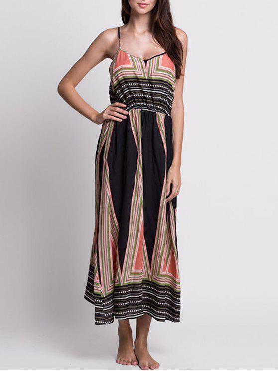 فستان الصيف مريح بوهيمي طباعة مثير طويل - Colormix S