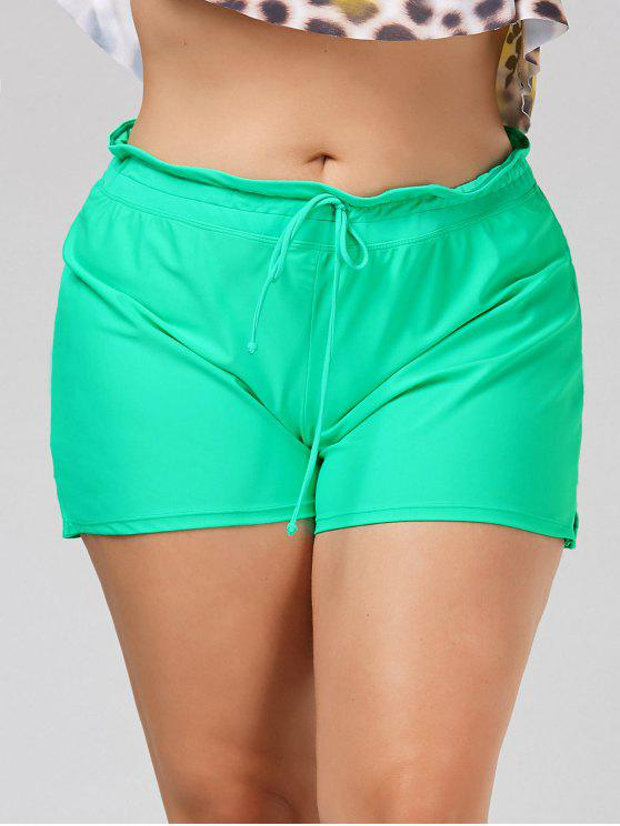 1bade212ca5 17% OFF  2019 Drawstring Plus Size Swim Shorts In GREEN XL