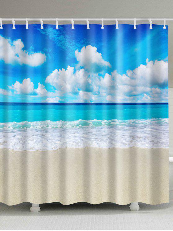 إكسترا لونغ بيتش مشهد حمام ديكور ستارة الحمام - مزيج ملون W71 بوصة * L79 بوصة