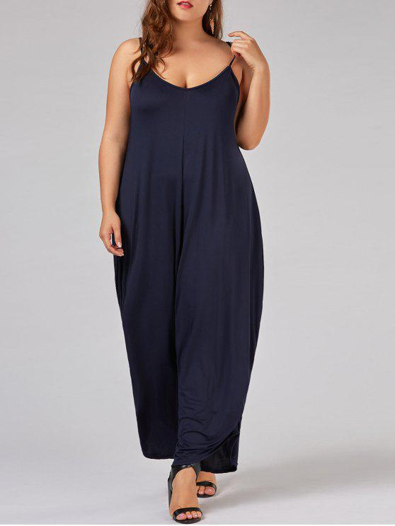 41454fb6c548 27% OFF  2019 Plus Size Low Cut Spaghetti Strap Baggy Jumpsuit In ...