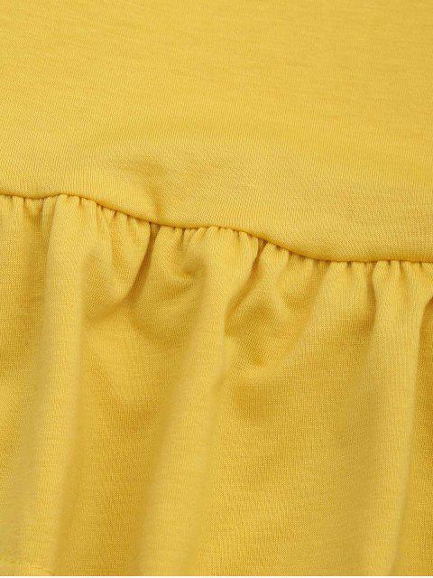 T-shirt manches longues - Jaune S Mobile