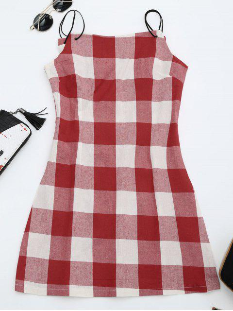 outfit Checked Cami Shift Dress - CHECKED L Mobile