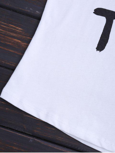women Streetwear Letter Sleeveless T-Shirt - WHITE S Mobile