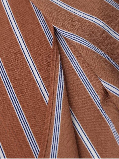 Top court rayé et pantalon à fentes - Brique S Mobile
