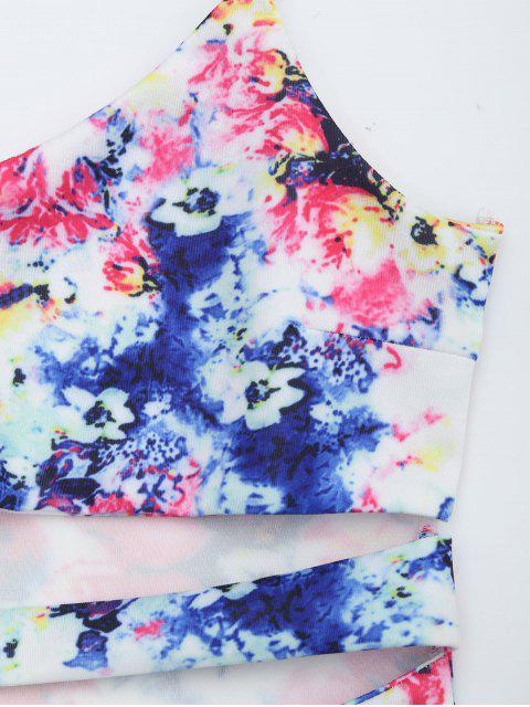 best Printed Cut Out Cami Dress - MULTI L Mobile