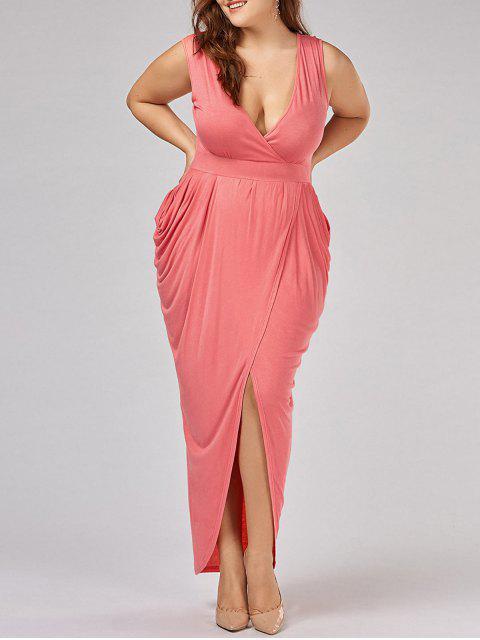 Robe à manches longues surdimensionnées - Orange Rose 2XL Mobile