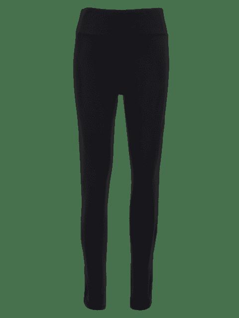 unique Stretchy Cut Out Sporty Bottoms - BLACK M Mobile