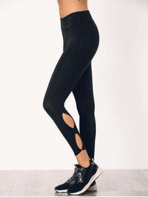 sale Stretchy Cut Out Sporty Bottoms - BLACK S Mobile