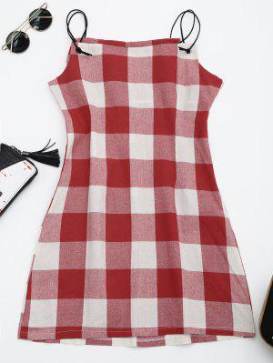 Checked Cami Shift Dress - Checked L