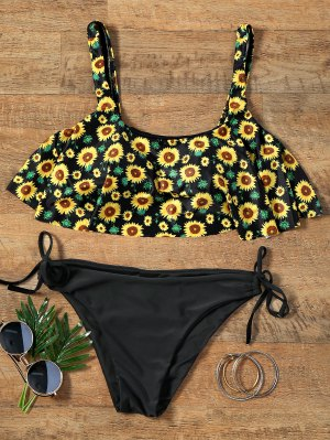 Flounce Cultivado Top Bikini Girasol Conjunto - S