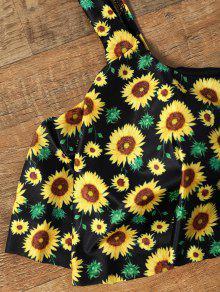 13b1c69c73 24% OFF  2019 Flounce Cropped Top Sunflower Bikini Set In COLORMIX L ...
