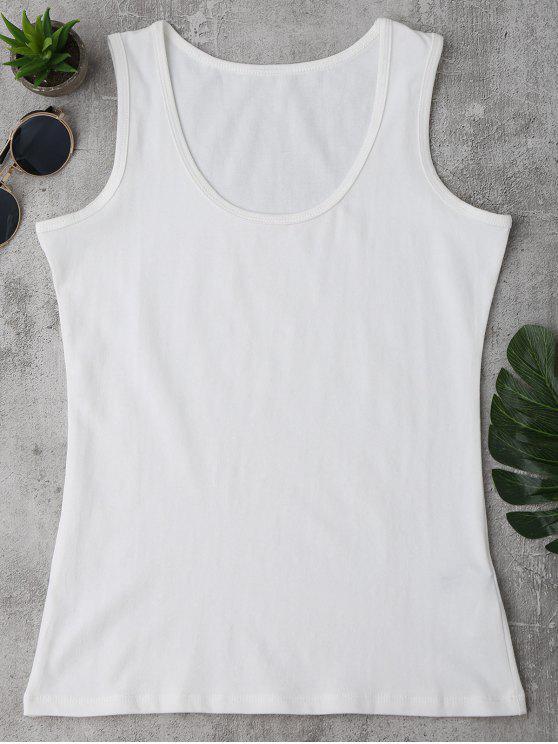 Camiseta sin mangas deportiva de algodón - Blanco Única Talla