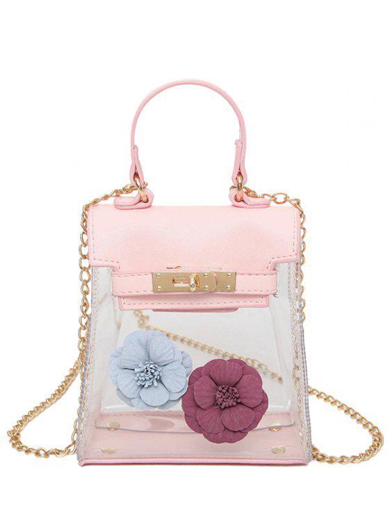 30% OFF  2019 Mini Flower Crossbody Clear Handbag In PINK  a7f042a3d7460