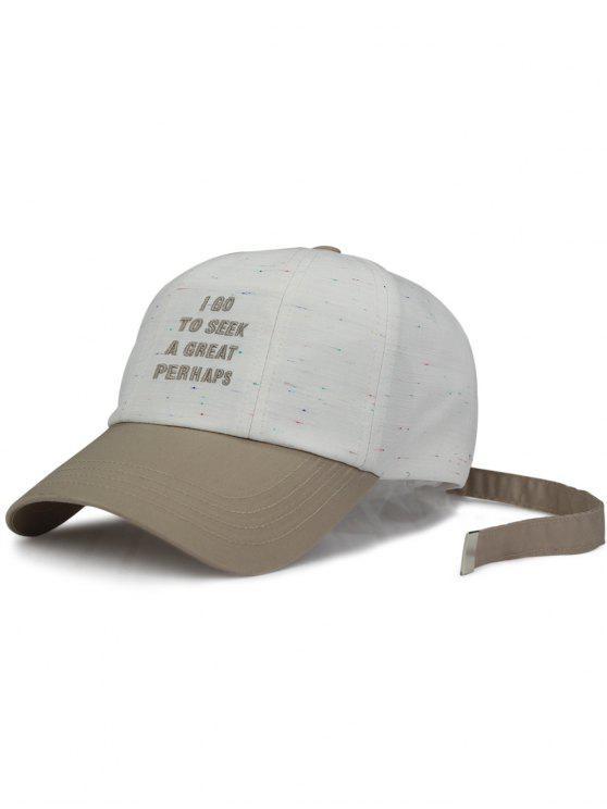 قبعة بيسبول مطرز بالحرف طويلة الذيل - أبيض