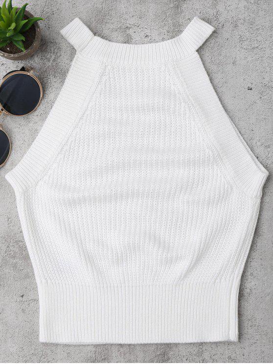 Cuello alto de punto - Blanco M