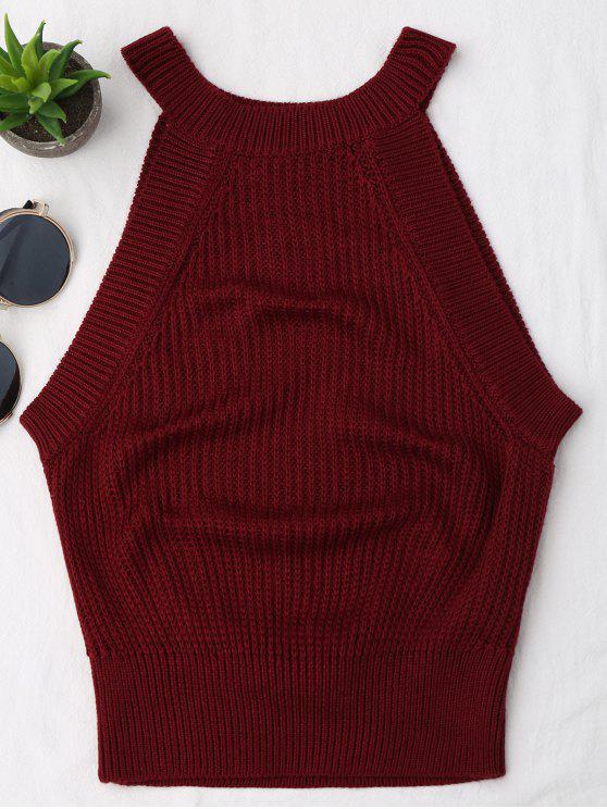 Cuello alto de punto - Vino Rojo S