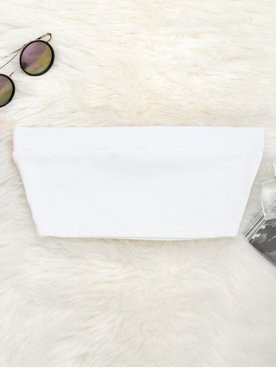 Top de tubo elástico de algodón - Blanco M
