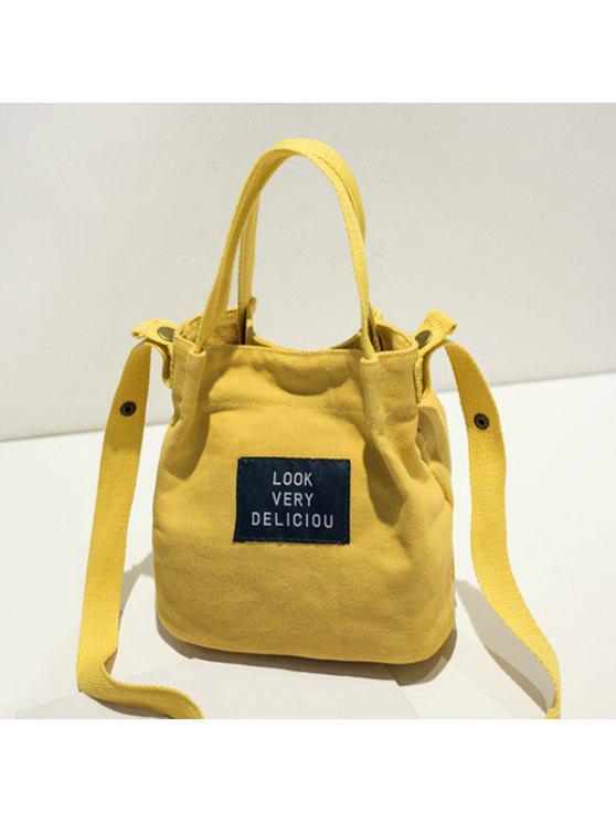 حقيبة قماش الكتف - الأصفر