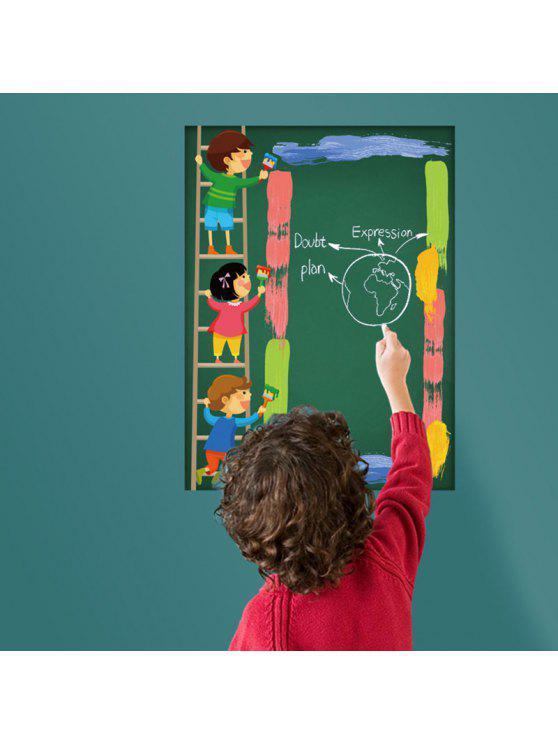 الكرتون السبورة الاطفال الجدار ملصق مكتب ديكور - أخضر 45 * 60CM