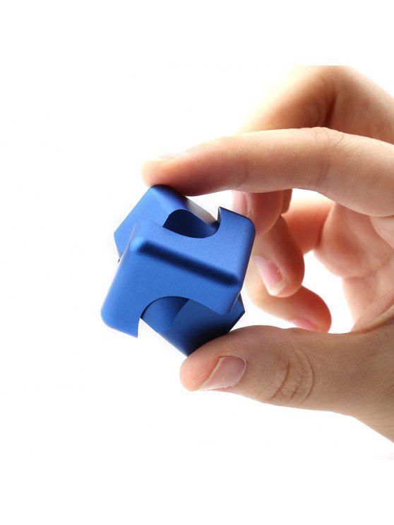 تخفيف الضغط لعبة سبيكة مكعب الإصبع الدوران - أزرق