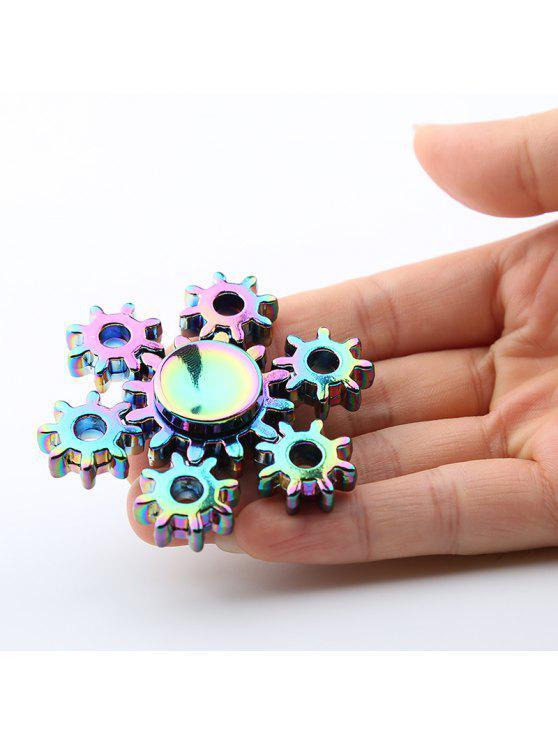 الملونة الدفة الشكل الغش المعادن سبينر كمان لعبة - مزيج ملون