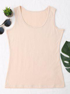Cotton Sports Tank Top - Apricot