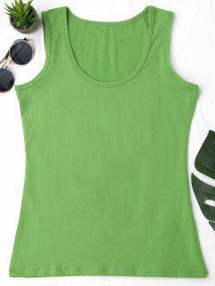Camiseta Sin Mangas Deportiva De Algodón - Verde