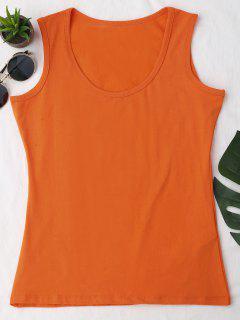 Camiseta Sin Mangas Deportiva De Algodón - Naranja Rosa