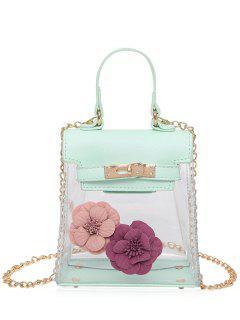 Mini Flower Crossbody Clear Handbag - Green