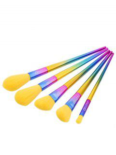 Triangle Shape Ombre Makeup Brushes Set - Multi