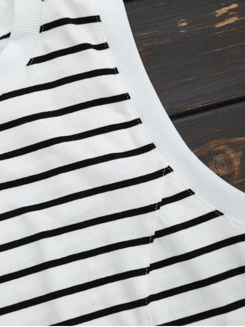 hot Sports Cropped Stripes Tank Top - STRIPE M Mobile