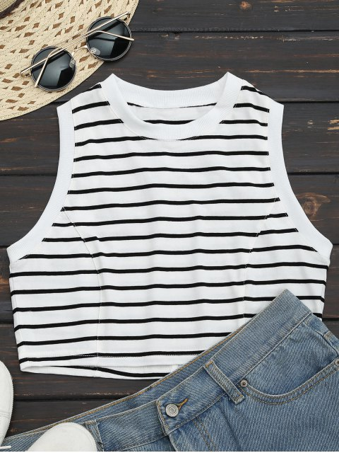 outfit Sports Cropped Stripes Tank Top - STRIPE S Mobile